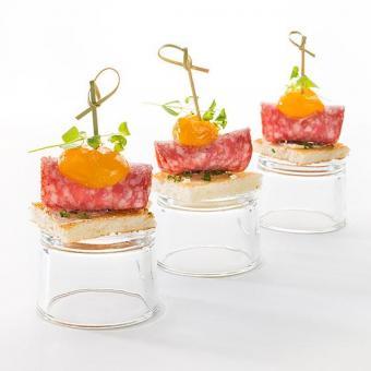 Канапе с салями и желтыми томатами 10 шт